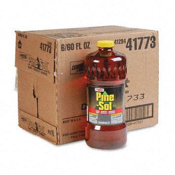 Pine-Sol Cleaner Disinfectant Deodorizer, 60 Oz. Bottle, 6 Bottles per Carton
