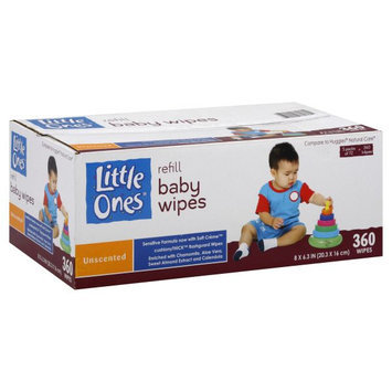Little Ones Baby Wipes, Refill, Unscented 360 wipes - KMART CORPORATION