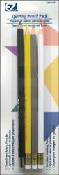Wright's Quilting Pencil Pack-4/Pkg White, Gray, Yellow & Black