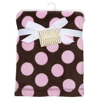 Harry V Rashti & Co. Inc. Baby Starters Plush Blanket with Dot Design