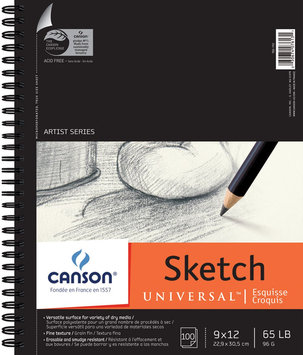 Canson Artist Series Universal Sketch Wire Bound Pads (Set of 6)