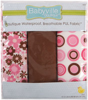 Drz Babyville Boutique Packaged PUL Fabric, Mod Girl Flowers and Dots