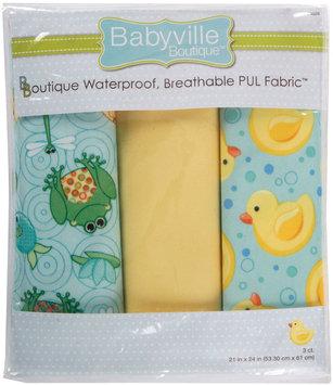 Drz Dritz Babyville Playful Pond Pond & Ducks Waterproof Diaper Fabric, 3-Pack