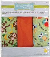 Drz Babyville Boutique Packaged PUL Fabric, Playful Friends Monkey and Hoot
