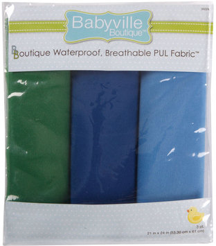 Drz Babyville Boutique Packaged PUL Fabric, Boy Solids