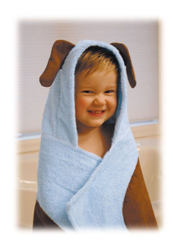 Trend Lab Llc Trend Lab Blue Puppy 2 Piece Hooded Towel Set