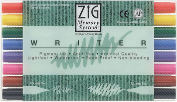 Zig Memory System Writer Dual-Tip Markers 8/Pkg