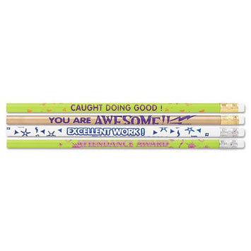 Moon Products Award Woodcase Pencil, Motivational Assortment, HB #2, 144/Box