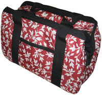 Janetbasket Red Floral Eco Bag 18x10x12