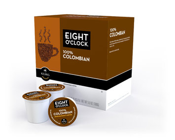 Sears, Roebuck And Co. Eight O'Clock 100% Colombian, 18 Count K-Cups