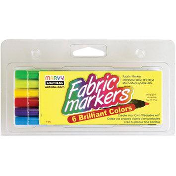 Uchida Fabric Marker Fine Tip 6/Pkg Brilliant