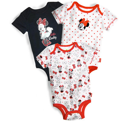 Bentex Kiddie Corporation Minnie Mouse Infant Girl's 3-Pack Bodysuits