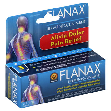Cam Consumer Products, Inc. Flanax Pain Relief Linimento Alivia dolor 2 fl oz.
