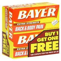 Bayer Back & Body Pain, Extra Strength, Coated Caplets, 100 caplets