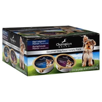 Wiley Publishing, Inc. Dog Food, Gourmet, Variety Pack, 12 - 3.5 oz (100 g) bowls [2 lb 10 oz (1.19 kg)]