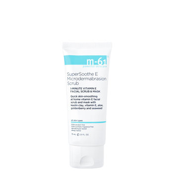 m-61 by Bluemercury SuperSoothe E Microdermabrasion Scrub - 1 Minute Vitamin E Facial Scrub & Mask, 2.5 oz