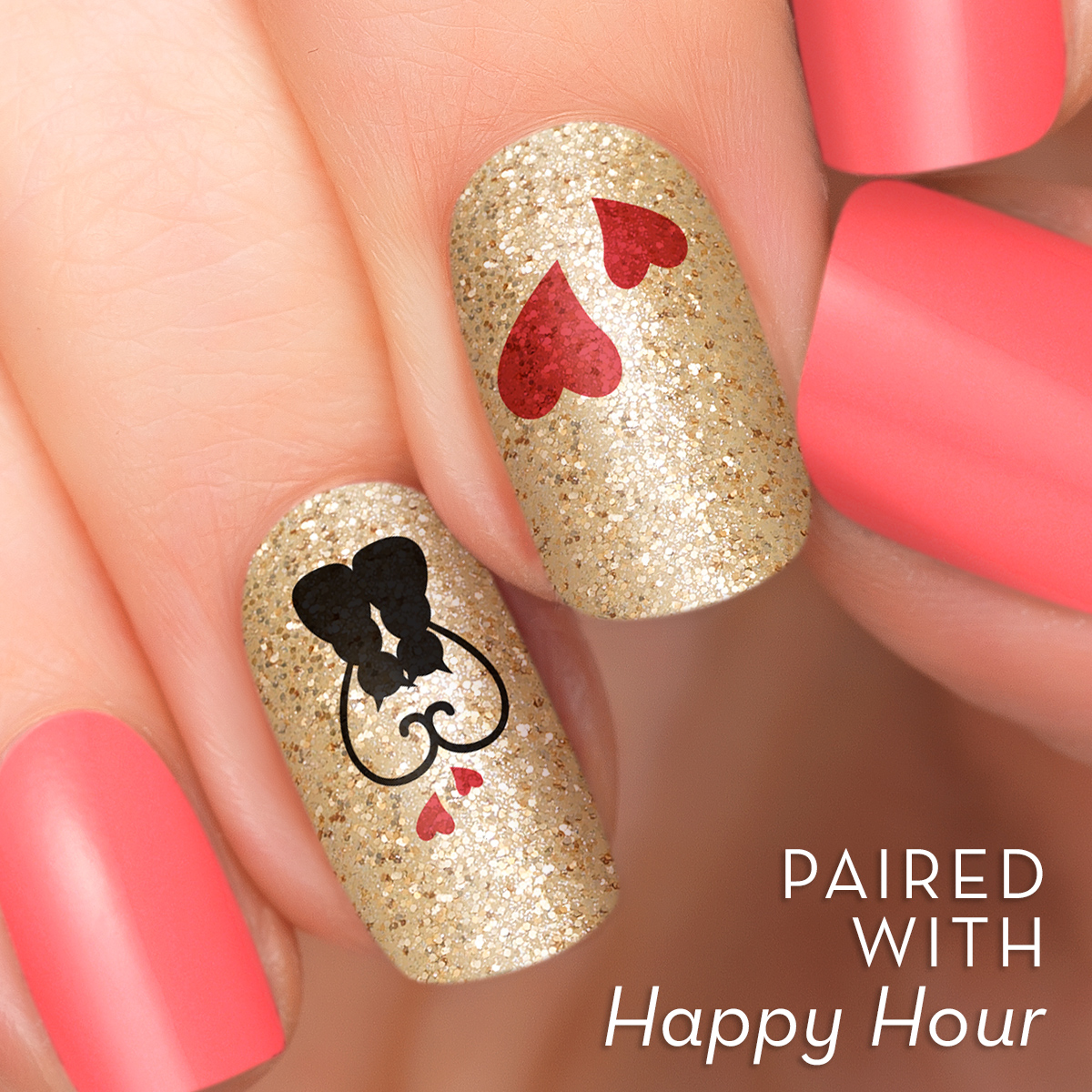 Incoco.com Incoco Nail Polish Strips, Sweet On You Accent Nail