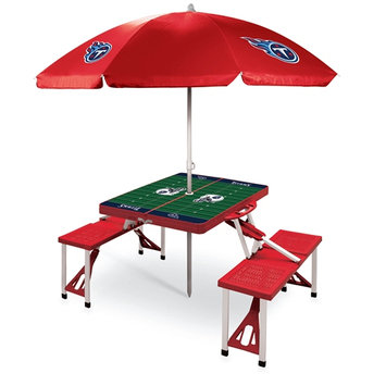 NFL Picnic Table Sport by Picnic Time - Tennessee Titans, Red
