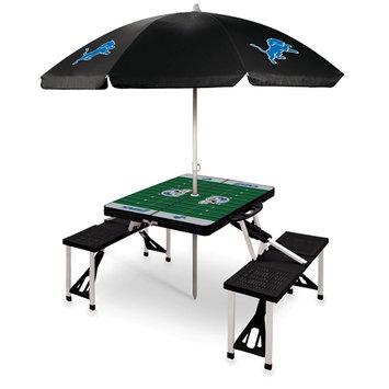 NFL Picnic Table Sport by Picnic Time - Detroit Lions, Black