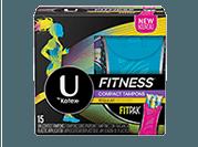 U by Kotex® Fitness* Tampon Regular