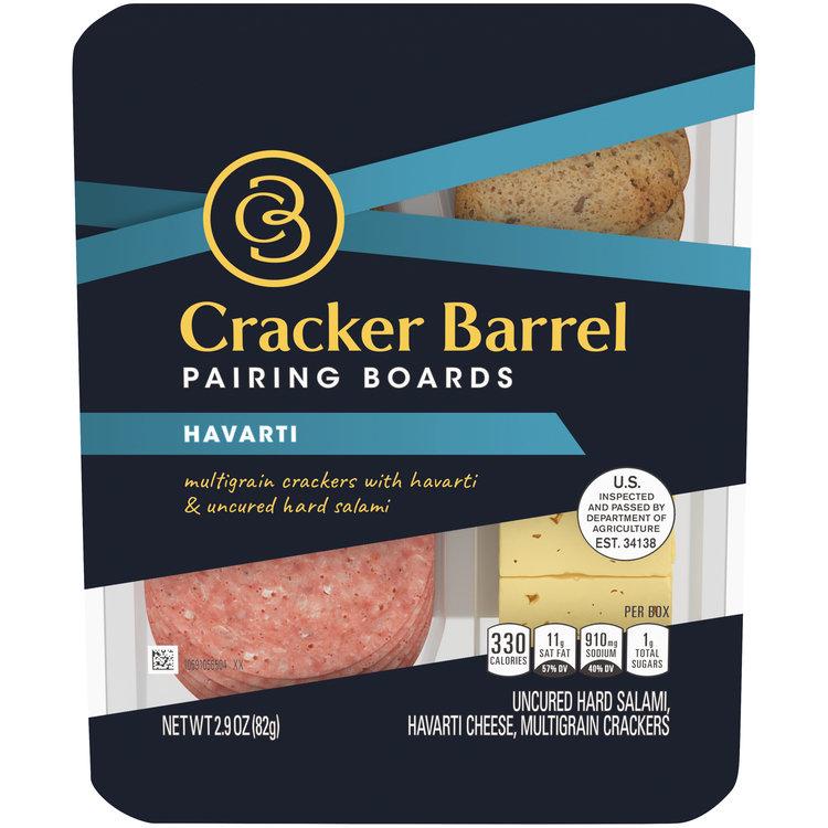 Cracker Barrel Pairing Boards Havarti Uncured Hard Salami & Multigrain Crackers