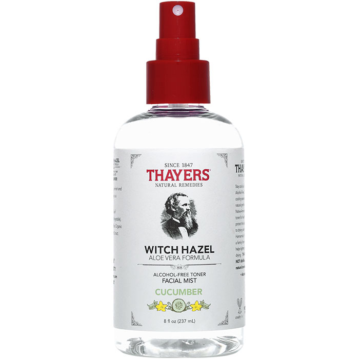 Thayers Witch Hazel Facial Mist Alcohol-Free Toner - Cucumber, 8 oz