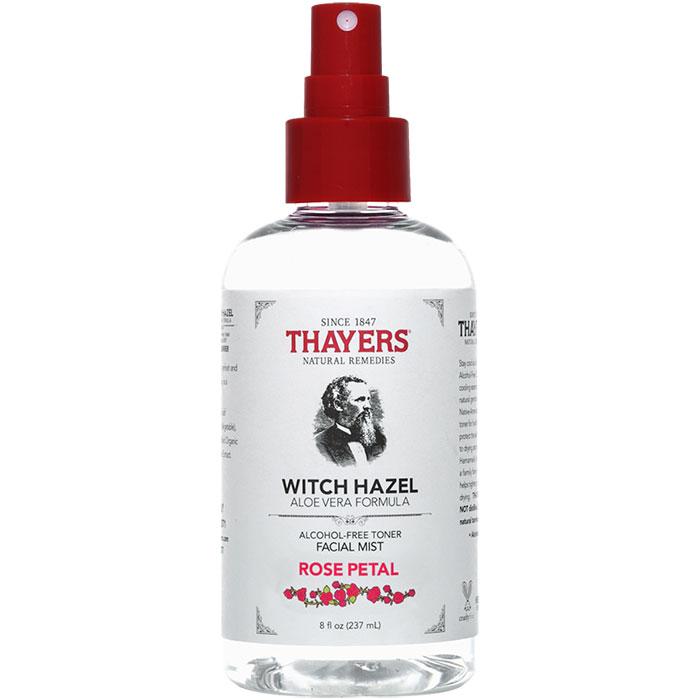 Thayers Witch Hazel Facial Mist Alcohol-Free Toner - Rose Petal, 8 oz