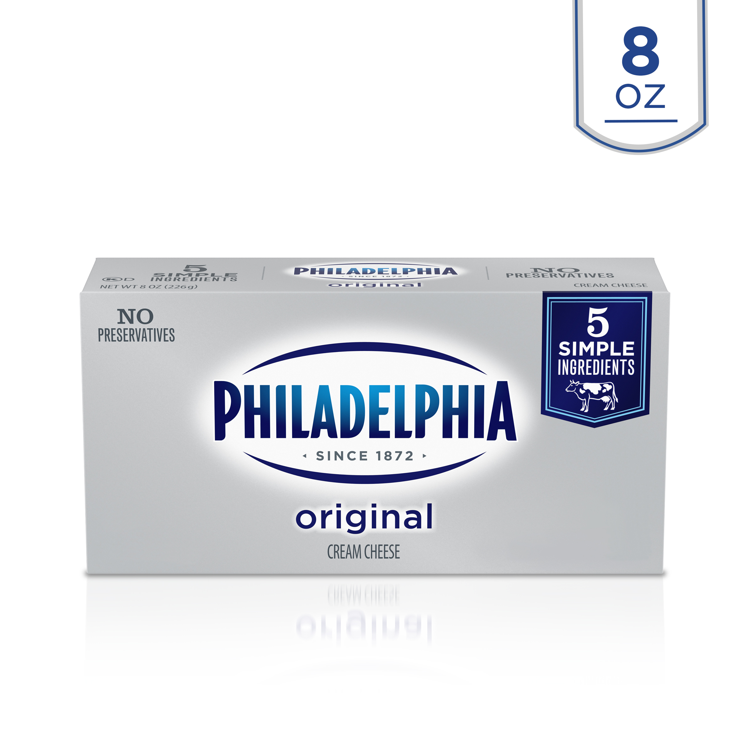Philadelphia Original Cream Cheese, 8 oz. Box