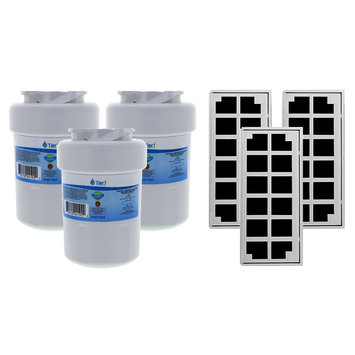 Tier1 GE MWF Comparable Refrigerator Water & Air Filter Combo 3 Pack