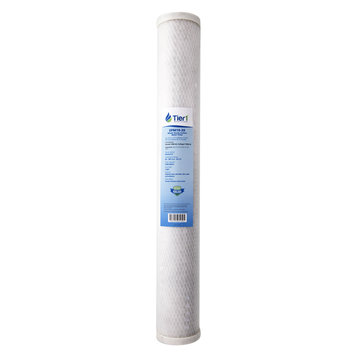 Tier1 Pentek EPM-20 10 Micron 20 x 2.5 Comparable Whole House Carbon Block Water Filter