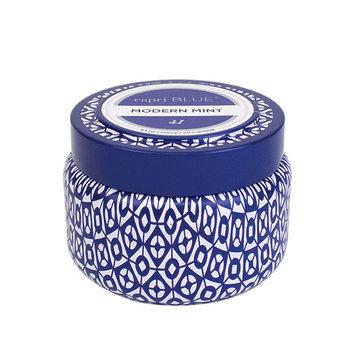 Capri Blue Modern Mint Printed Travel Tin 8.5 Oz Candle - CBTTMM85C