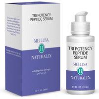 Tri-Potency Peptide Serum, Anti-Aging Facial Serum, 1 oz, Mellisa B Naturally