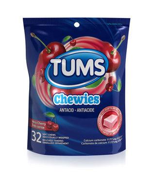 Tums Chewies Antacid Soft Chews, Very Cherry
