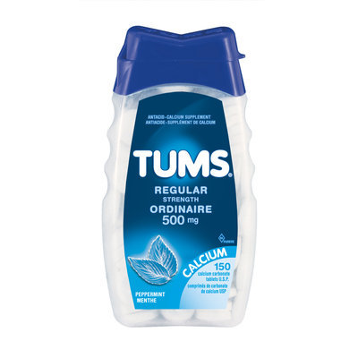 Tums Regular Strength, Peppermint - 500 mg, 150 Chewables