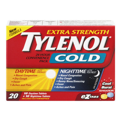 Tylenol Extra Strength Cold Daytime/Nighttime Convenience Pack