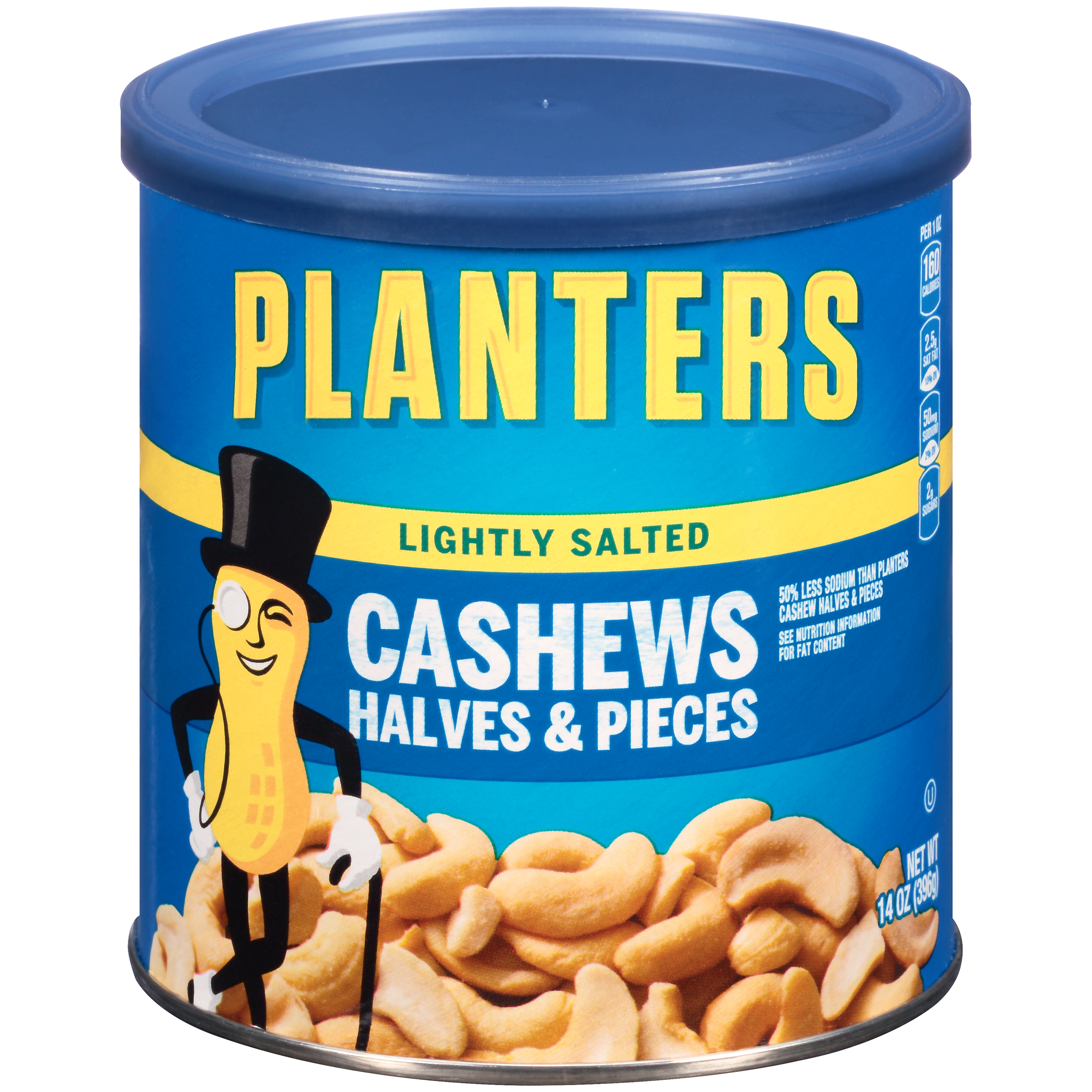 Planters Lightly Salted Cashew Halves & Pieces