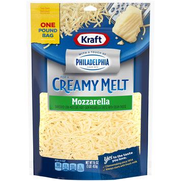 Kraft Mozzarella Natural Cheese with a Touch of Philadelphia