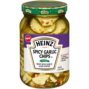 Heinz Spicy Garlic Pickle Chips