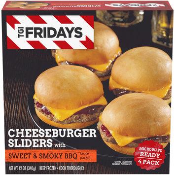 TGIF Cheeseburger Sliders with Sweet & Smoky BBQ Sauce