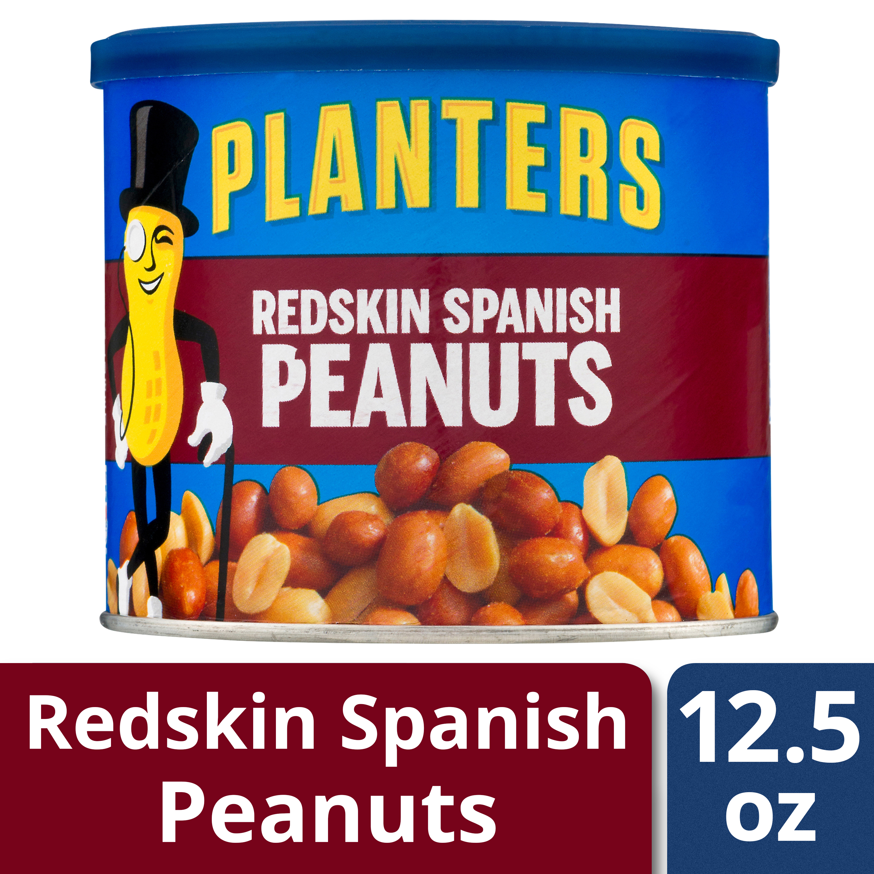 Planters Redskin Spanish Peanuts, 12.5 Oz Canister