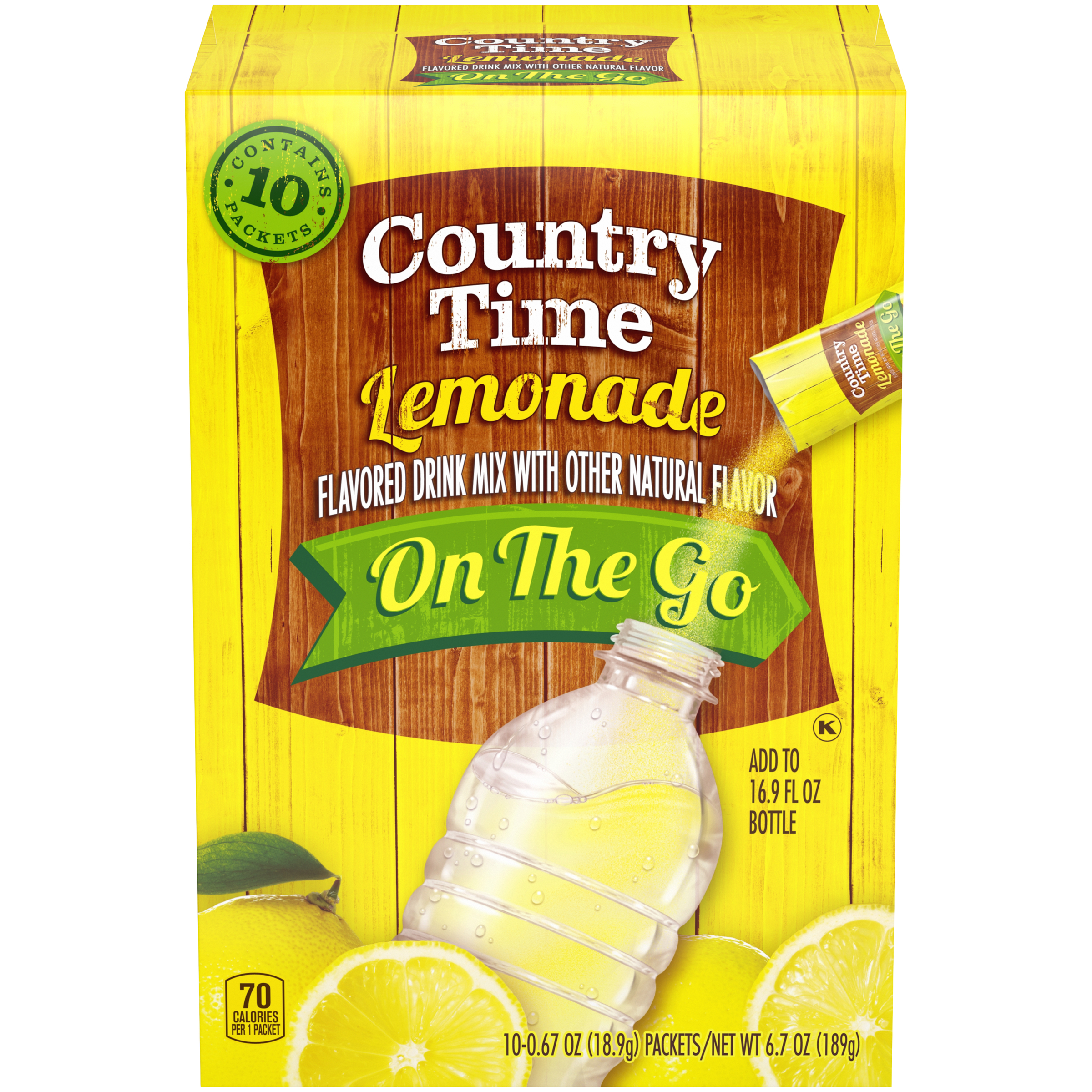 Country Time On-The-Go Sugar-Sweetened Lemonade Powdered Soft Drink