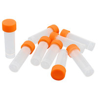 Unique Bargains 5ml Plastic Vial Tubes Sample Container Holder Clear White x 10