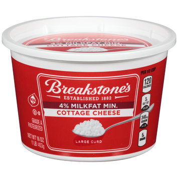 Breakstone's Large Curd 4% Milkfat Min Cottage Cheese