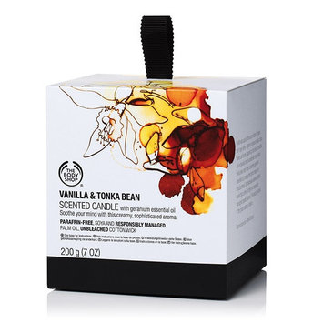 The Body Shop Vanilla & Tonka Bean Scented Candle