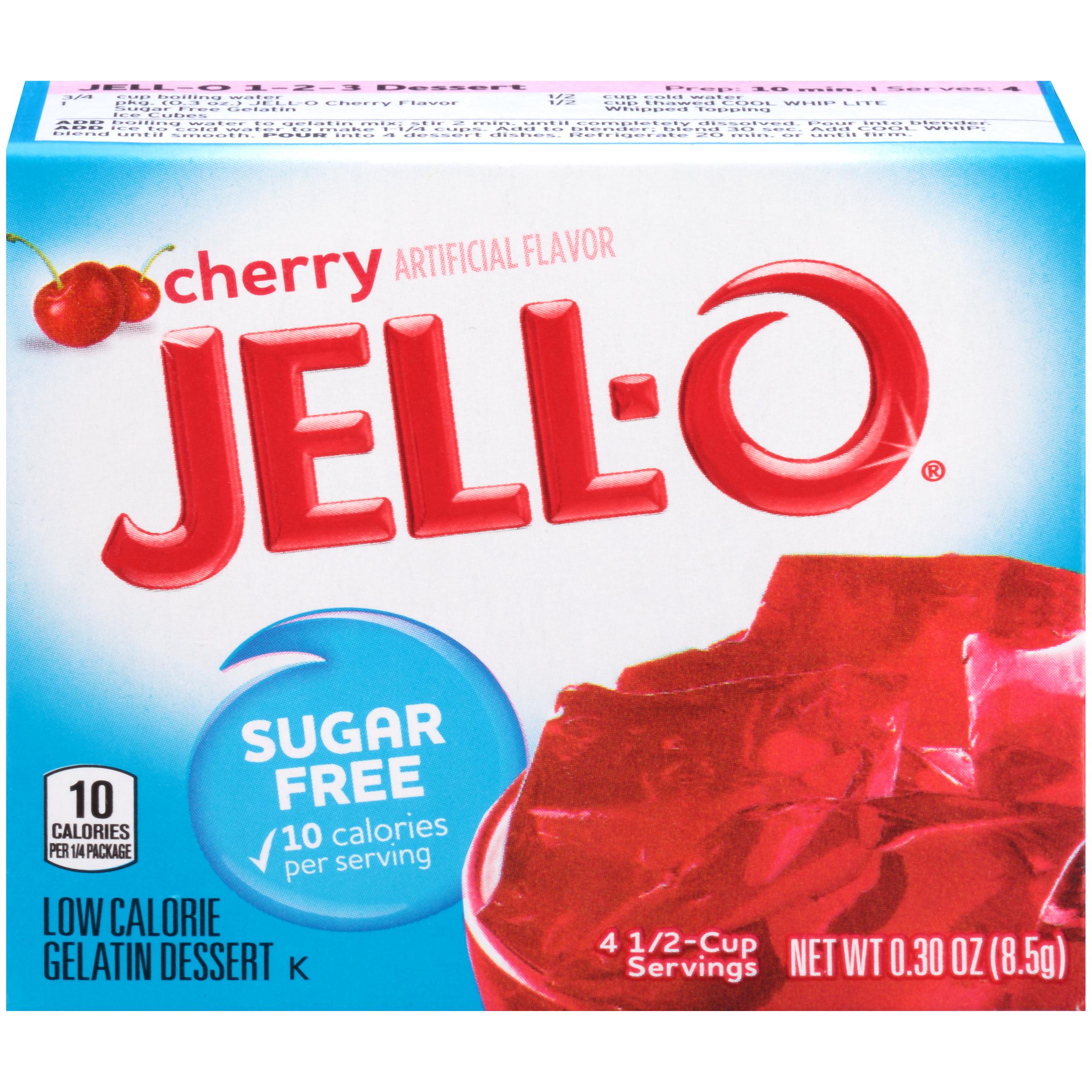 Jell-O Cherry Sugar-Free Gelatin
