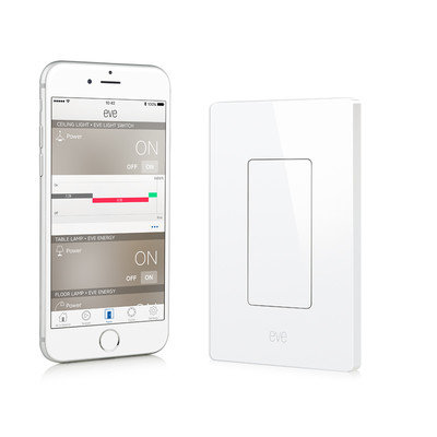 Wd Navarre Online Fulfill Eve Light Switch, Connected Wall Switch with Apple HomeKit technology, Bluetooth low energy