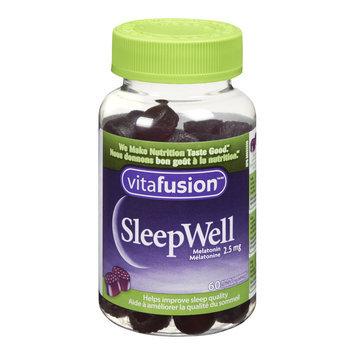 Vitafusion Sleepwell Gummies Melatonin Supplements, 2.5 mg