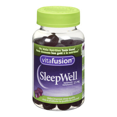 Vitafusion Sleepwell Gummies Melatonin Supplements, 2.5 mg