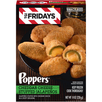 TGIF Cheddar Cheese Stuffed Jalapeno Poppers