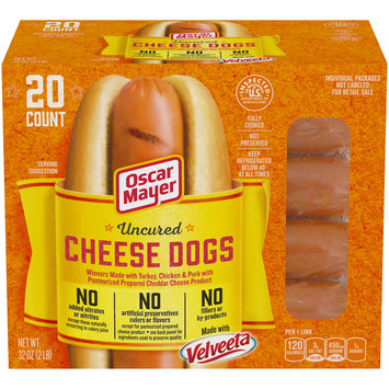 Oscar Mayer Uncured Velveeta Cheese Dogs